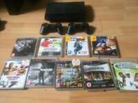 PS3 2 controllers 9 games