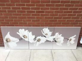 Set of 3 flower canvases