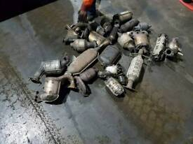 Catalytic converters and DPF filters exhaust