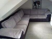 Corner settee sofa v good condition
