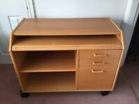 Computer Desk with 3 drawers and slide-out Keyboard shelf.