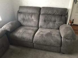 X2 grey sofas