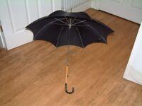 Ladies Umbrella, Black, light oak and ebonized handle, very stylish £15 o.n.o