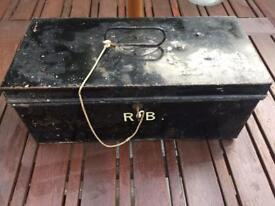 Vintage metal cash box from the department store AW Gamage of Holborn London - Ideal for Christmas