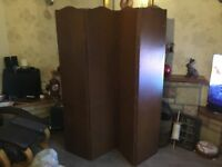 Auntique screen room divider