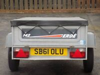 for sale erde tipping trailer 1500x1100x500 complete with cover and spare wheel