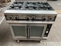 FALCON GAS COOKER UNDER CONVECTION FAN OVEN CATERING COMMERCIAL KITCHEN FAST FOOD SHOP