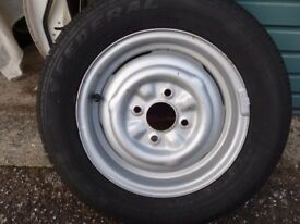 Lotus Cortina/ Ford Escort, Anglia, Capri; Wide Steel Rim with New 185/60 x 13 Tyre.