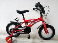 "(2587) 12"" DAWES THUNDER Boys Girls Kids Childs Bike Bicycle + STABILISERS Age: 3-4 Height: 90-105cm"
