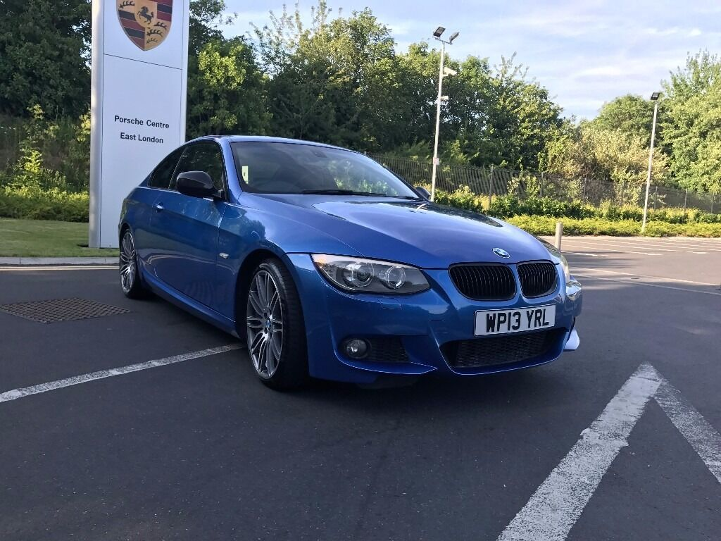 bmw 320d 2013 msport satnav auto individual lci performance estoril blue rare e92 e93 325 330. Black Bedroom Furniture Sets. Home Design Ideas