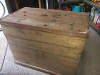 Extra large Solid wood chest, trunk, storage box, pine, hardwood, book case, table, shelves