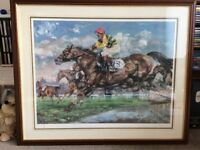 Horse Racing Painting (Claire eva Burton) Water Jump