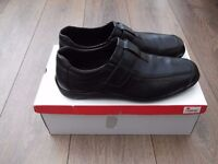 Mens Rieker Black Shoes Size 42