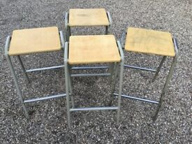 VINTAGE OLD SCHOOL SCIENCE LAB KITCHEN BAR STOOLS ( 8 available )