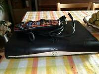 Sky box /w remote and small side table