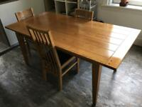 Solid oak wood dining table from Next