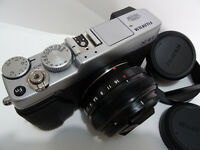 Fujifilm Fuji X-E1 XE1 16.3MP Camera & Fujinon XF 18mm F2 Lens - Excellent Condition Like Mint