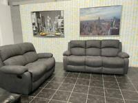 SCS 3+2 fabric recliner sofa / couch