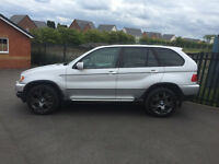 BMW X5 3.0 LTR DIESEL AUTOMATIC 4X4 SILVER 53reg LEATHER NAV TV VGC