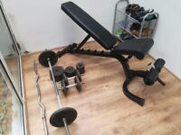 Heavy duty home gym weights bench - incline/decline