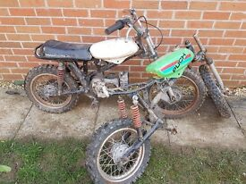 Vintage mid 70s PUCH (made by Daimler) kids Scrambler motorbike MX Motocross Spairs/repairs