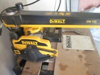 Dewalt DW720 Radial Arm Saw with Table Excellent condition