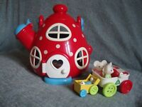 Early Learning Centre Happyland Toys Kettle Cottage Mouses Cafe and Park