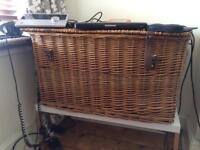 Wicker storage basket- toys, blankets