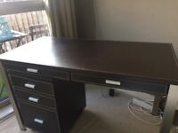 Faux Leather desk and matching filing cabinet