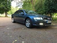 AUDI-A8 QUATTRO S LINE-SAT NAVIGATION-FULLY LOADED-DIESEL-AUTOMATIC-4.0-FULL CREAM-FULL SERVICE-HPI