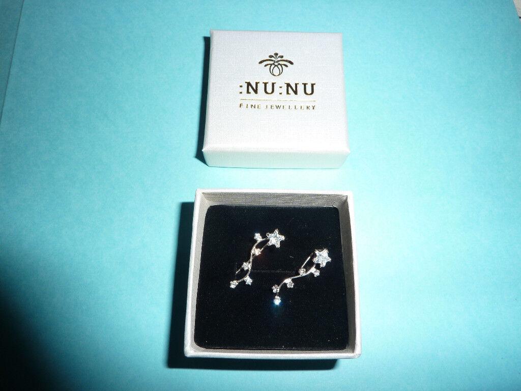 Brand new Nu Nu sterling silver constellation earings