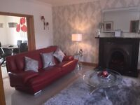 2 Sofas Red Real Italian leather