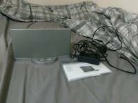 Bose Sounddock Series 2, Silver. Excellent condition with remote and manual