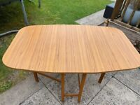 Melomine drop leaf table. Very good condition.