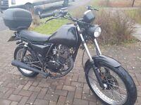 Sinnis TrackStar 125 motorcycle