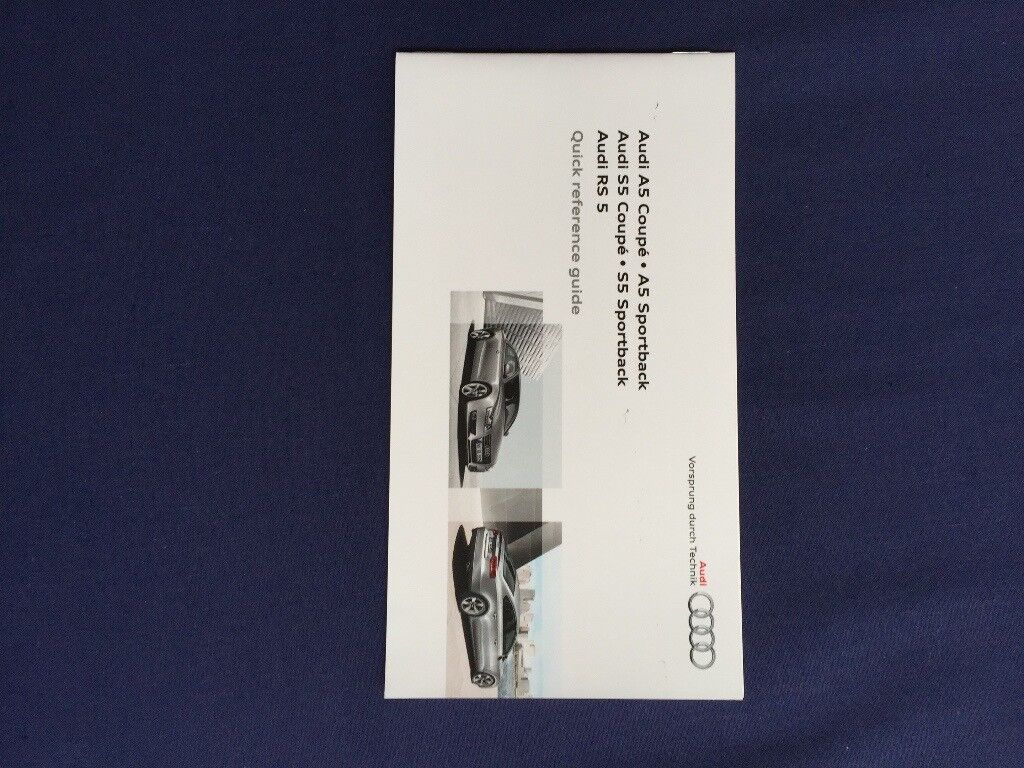 Audi MMI Manual and A5 Quick Reference Guide