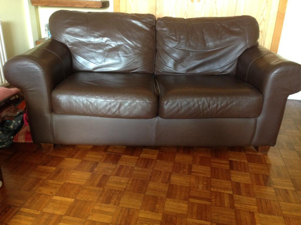 Pleasant Ikea Ektorp Brown Leather 2 Seater Sofa X2 In Dorchester Dorset Gumtree Andrewgaddart Wooden Chair Designs For Living Room Andrewgaddartcom