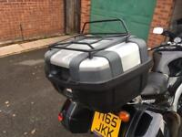 Givi Trekker Motorcycle 52L Top Box with Givi Luggage Rack. Good Condition with Both Keys.