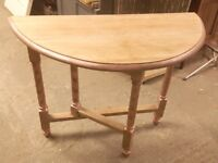 Shabby Chic drop-leaf console table
