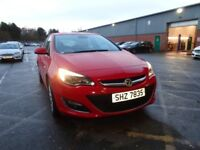 VAUXHALL ASTRA 1.6i 16V Elite 5dr (red) 2014