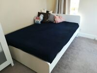 Ikea Double Bed Frame and Spring Mattress Up For Sale £160 **GREAT GREAT CONDITION**