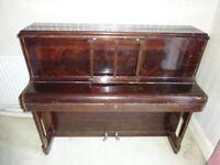 Antique Monington and Weston Upright Piano Metal Frame .