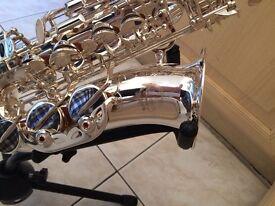 Stunning Silver Classic Alto Sax