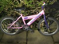 Girls Pink Bicycle suit age 7 - 10 safety helmet and cycle gloves included