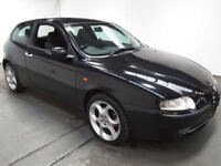 2001(51)ALFA ROMEO 147 1.6 TWIN SPARK BLACK,GOOD RUNNER,SPARES OR REPAIRS