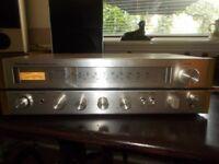 vintage Toshiba amp/tuner/ B & O speakers beovox