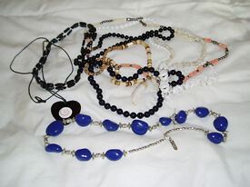 Costume Jewellery Collection - Brooches, Necklaces, Bracelets Etc