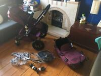 Bugaboo cameleon limited edition pram and pushchair