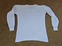 white long sleeved thermal top - age 10