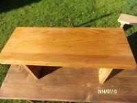 handmade rustic bench / table